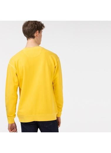 Lacoste Erkek Rahat Fit Sweatshirt SH0112.12Z Sarı